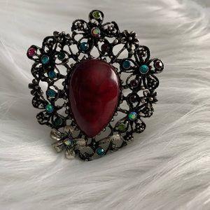 NEW Burgundy stone ring